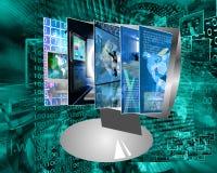 Het monitorscherm Stock Foto's