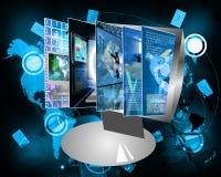 Het monitorscherm Royalty-vrije Stock Foto