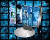 Het monitorscherm Stock Fotografie