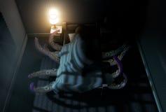 Het Monster onder het bed stock illustratie