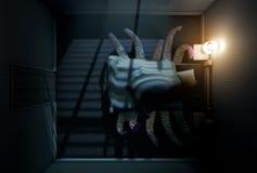 Het Monster onder het bed vector illustratie