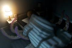 Het Monster onder het bed royalty-vrije illustratie