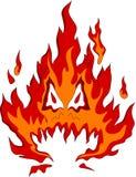 Het monster van de brand Stock Fotografie