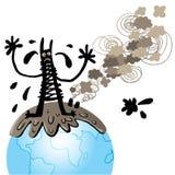 Het monster van de verontreiniging stock illustratie