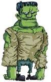 Het monster van Frankenstein van het beeldverhaal Stock Foto