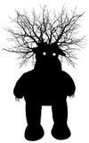 Het monster van het moeras - vectorsilhouet vector illustratie