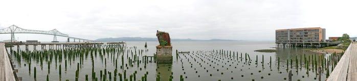 Het Monster van het Staal van Astoria met Brug Megler Stock Fotografie