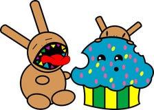 Het monsterillustratie van Cupcake Stock Fotografie