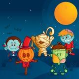 Het monsterparade van Halloween royalty-vrije illustratie