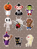 Het monsterstickers van Halloween Stock Foto