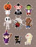 Het monsterstickers van Halloween Stock Foto