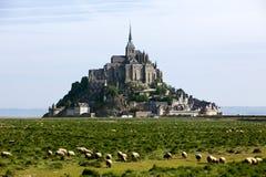Het Mont Saint Michel, Frankrijk Stock Afbeeldingen