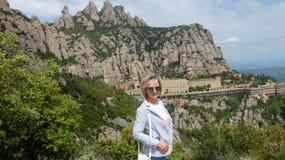 Het Montserrat klooster stock fotografie