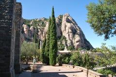 Het Montserrat klooster Stock Afbeeldingen