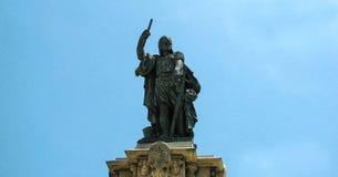 Het monument aan Admiraal Ruggiero de Lauria Tarragona, Spanje Stock Foto
