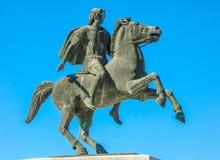 Het monument aan Alexander in Thessaloniki royalty-vrije stock foto's