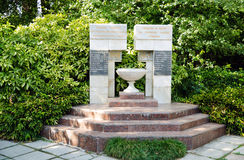 Het monument aan de arbeiders van de Botanische Tuinen van Nikitsky, stierf royalty-vrije stock afbeeldingen