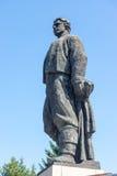 Het monument aan de Bulgaarse held Vasil Levski in Lovech stock foto's