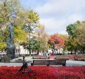 Het monument aan de dichter Sergei Yesenin in Moskou Stock Foto's