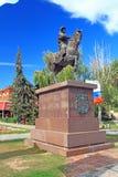 Het monument aan de eerste monarch van Volgograd stock afbeelding