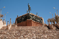Het Monument aan de Helden van Onafhankelijkheid - Humahuaca - Argentinië royalty-vrije stock foto