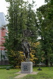 Het monument aan de Prins van Heilige van Moskou Dmitry Donskoy op de plaats van de eerste de kadetkorpsen van Moskou Royalty-vrije Stock Fotografie