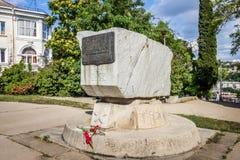 Het monument aan de Russische vloot van de Zwarte Zee stock fotografie