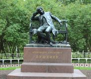 Het monument aan de schrijver A S pushkin Royalty-vrije Stock Afbeeldingen