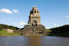 Het monument aan de Slag van de Naties in Leipzig Stock Foto