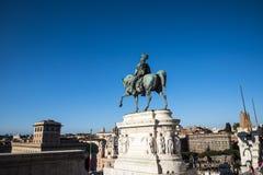 Het Monument aan Koning Vittorio Emanuele 2 in Piazza Venezia in Rome royalty-vrije stock afbeeldingen
