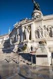 Het Monument aan Koning Vittorio Emanuele 2 in Piazza Venezia in Rome stock foto