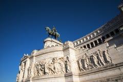 Het Monument aan Koning Vittorio Emanuele 2 in Piazza Venezia in Rome stock afbeeldingen