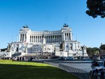 Het Monument aan Koning Vittorio Emanuele 2 in Piazza Venezia in Rome stock fotografie