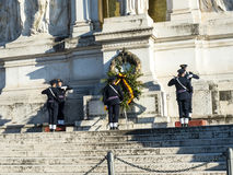 Het Monument aan Koning Vittorio Emanuele 2 in Piazza Venezia in Rome stock afbeelding