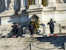 Het Monument aan Koning Vittorio Emanuele 2 in Piazza Venezia in Rome royalty-vrije stock afbeelding