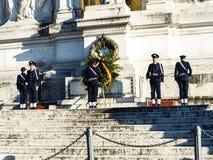Het Monument aan Koning Vittorio Emanuele 2 in Piazza Venezia in Rome royalty-vrije stock fotografie