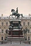 Het monument aan Nicholas I (1859) in St. Petersburg royalty-vrije stock fotografie