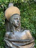 Het monument aan Russische songwriter, zanger, dichter en acteur Vladimir Vysotsky bij Vagankovsky-begraafplaats opende op 12 Okt royalty-vrije stock afbeelding