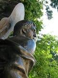 Het monument aan Russische songwriter, zanger, dichter en acteur Vladimir Vysotsky bij Vagankovsky-begraafplaats opende op 12 Okt stock afbeelding