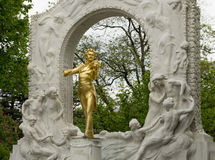het monument aan Strauss royalty-vrije stock foto's