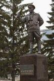 Het monument aan V F Margelov in Yekaterinburg Royalty-vrije Stock Afbeelding