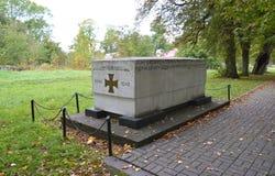 Het monument aan WALDAU 1914-1918 wat in dagen van Wereldoorlog I zijn omgekomen Stock Foto's