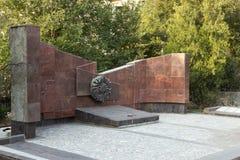 Het monument is een afdeling van massa ernstige infanterie 45 van een naam van S Royalty-vrije Stock Foto