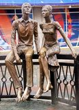 Het monument in liefde Ykaterinburg (Rusland). Stock Foto