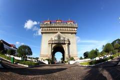 Het monument -monument-vientiane van Patuxay, Laos royalty-vrije stock fotografie