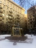 Het monument in Moskou in de winter royalty-vrije stock fotografie