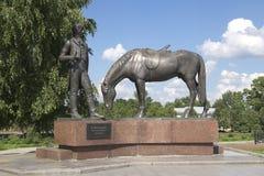 Het monument is thr schrijver Batushkov Stock Foto's