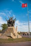 Het monument van Ataturk Stock Foto