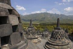 Het monument van Borobudur Stock Afbeeldingen