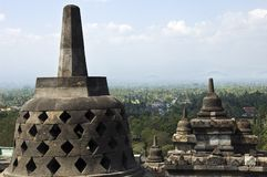 Het monument van Borobudur Stock Foto's